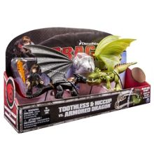 Dreamworks Dragons Hiccup And Toothless Vs. Armoured Dragon