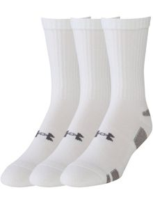 3 Pack Heatgear Plain Crew Socks