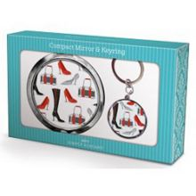 Maranda Ti Limited Shoes Boots Compact Mirror Keyring Set