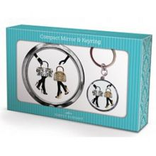 Bags Shoes Compact Mirror Keyring Set