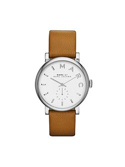 Mbm1265 baker ladies brown leather strap watch