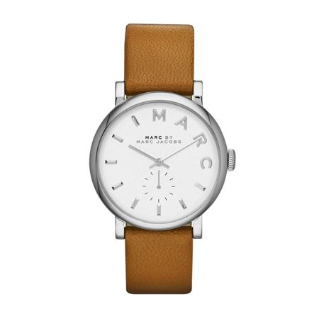 Marc Jacobs Mbm1265 baker ladies brown leather strap watch