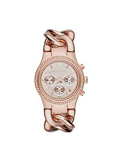 Mk3247 runway ladies chronograph bracelet watch