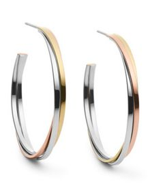 Michael Kors MKJ3286998 Womens Hoop Earrings