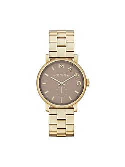 Mbm3281 baker ladies gold bracelet watch