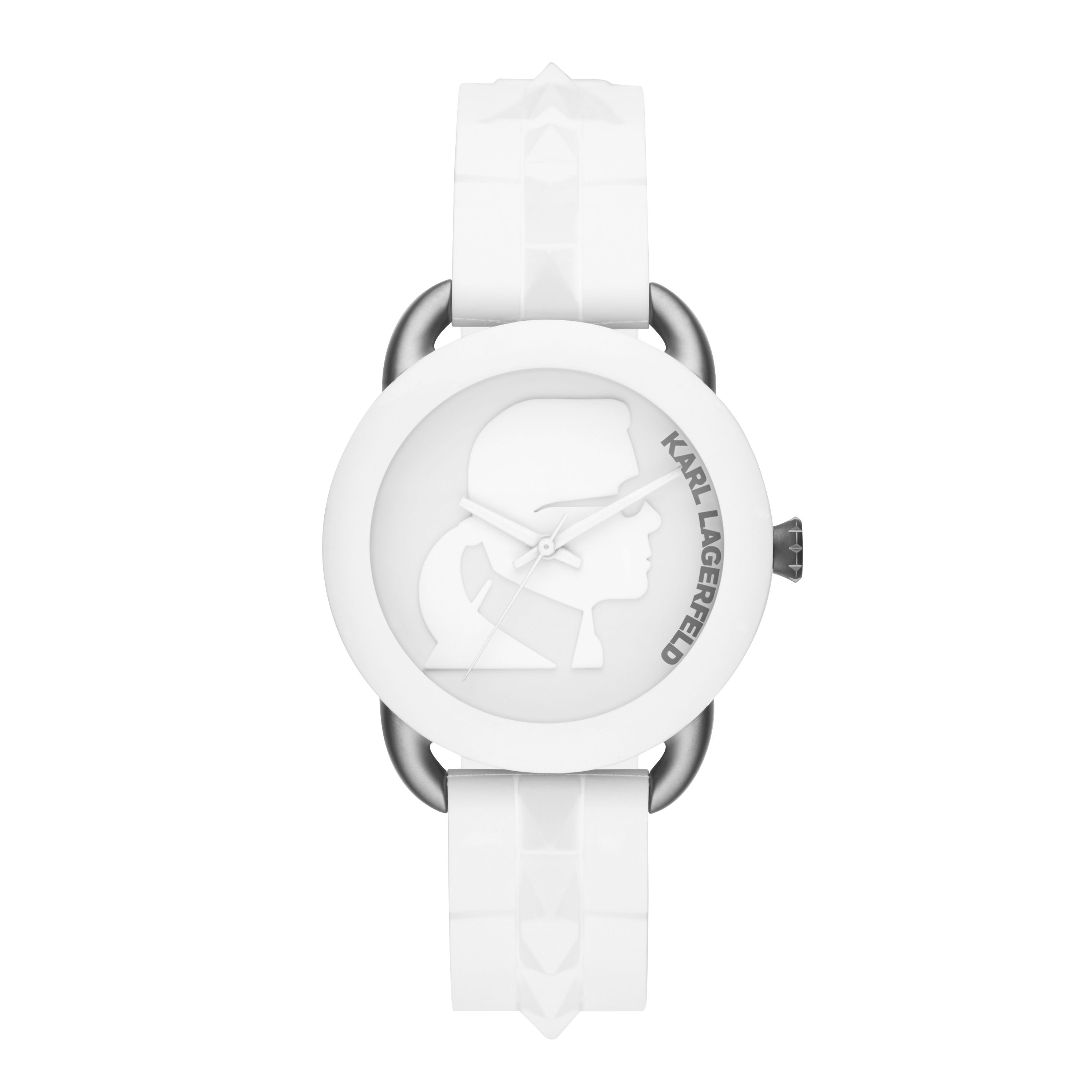 White Unisex Strap Watch