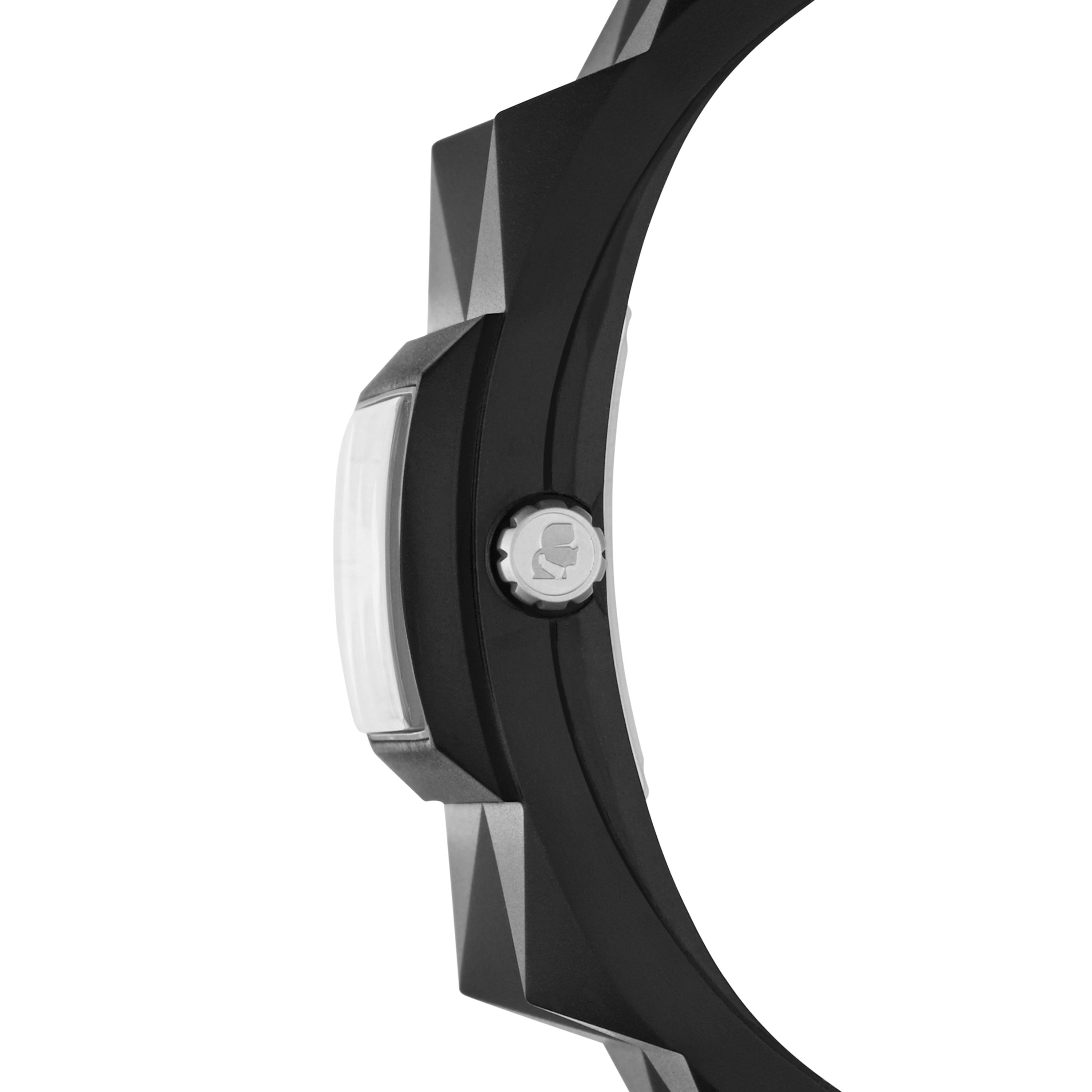 Black Rubber Strap Watch