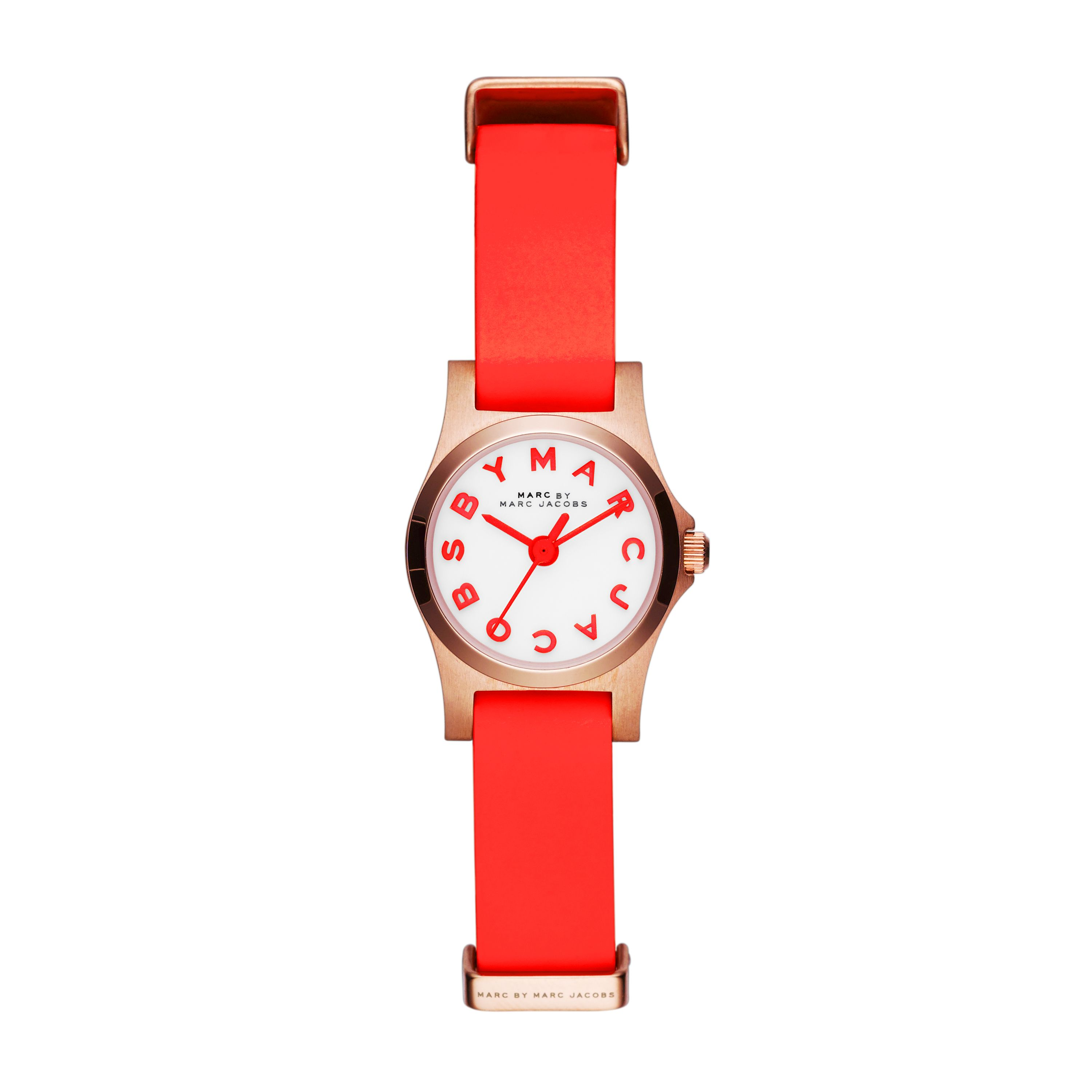 Mbm1315 henry ladies red leather strap watch
