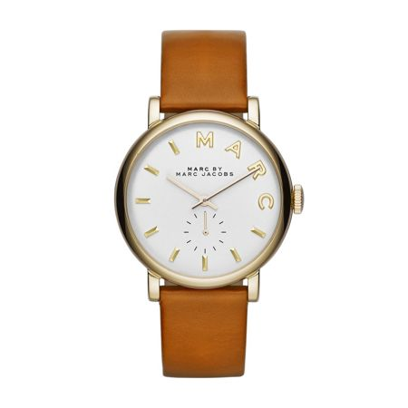 Marc Jacobs Mbm1316 baker ladies brown leather strap watch