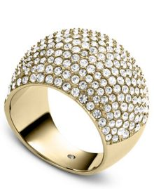 Brilliance Pave Crystal Ring - Ring Size P - M/L