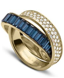 Brilliance Crossover Ring - Ring Size P - M/L