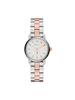 Marc Jacobs Baker Mini Silver And Rose Ladies