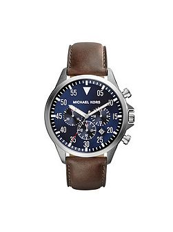 Gage Brown Leather Mens Military Watch