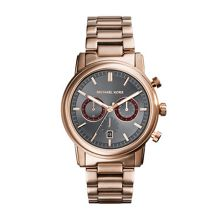 Michael Kors Pennant Rose Gold Mens Bracelet Sport Watch