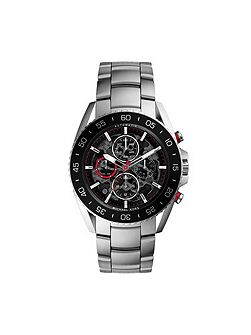 Jet Master Silver Automatic Mens Sport Watch