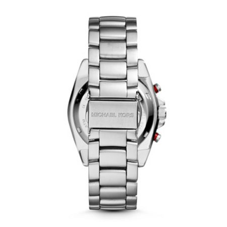 Michael Kors Jet Master Silver Automatic Mens Sport Watch