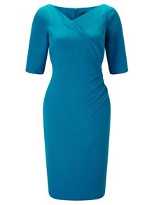 Adrianna Papell Plus Size 1/2 Sleeve Sheath Dress