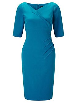 Plus Size 1/2 Sleeve Sheath Dress