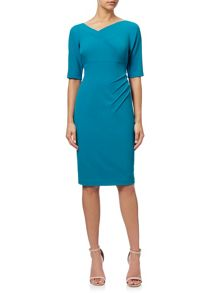Adrianna Papell 1/2 Sleeve Sheath Dress