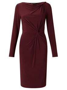 Adrianna Papell Long sleeve drape dress