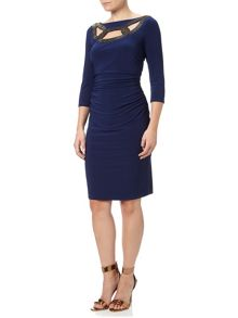 Adrianna Papell 3/4 Sleeve Cocktail Dress