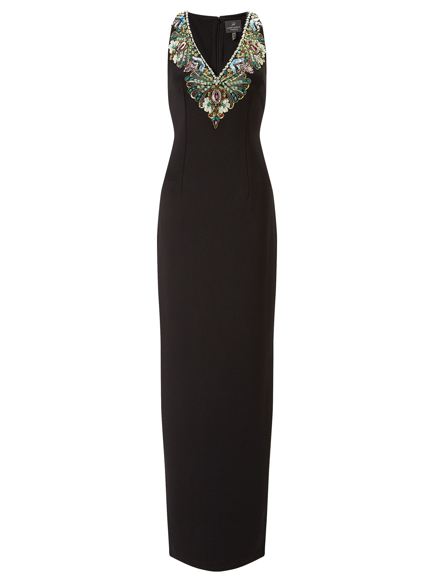 Adrianna Papell Sequin detail evening dress, Black