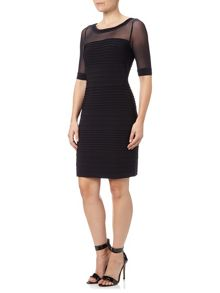 Adrianna Papell Pin tuck sheath dress