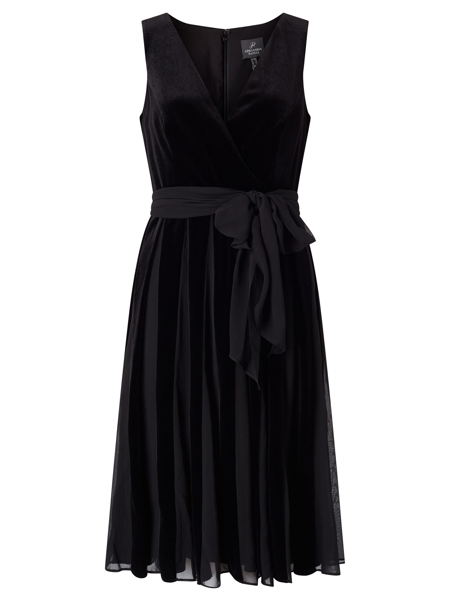 Adrianna Papell Velvet Cocktail Dress, Black