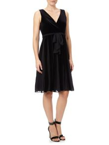 Adrianna Papell Velvet Cocktail Dress