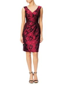 Adrianna Papell Shimmering floral cocktail dress