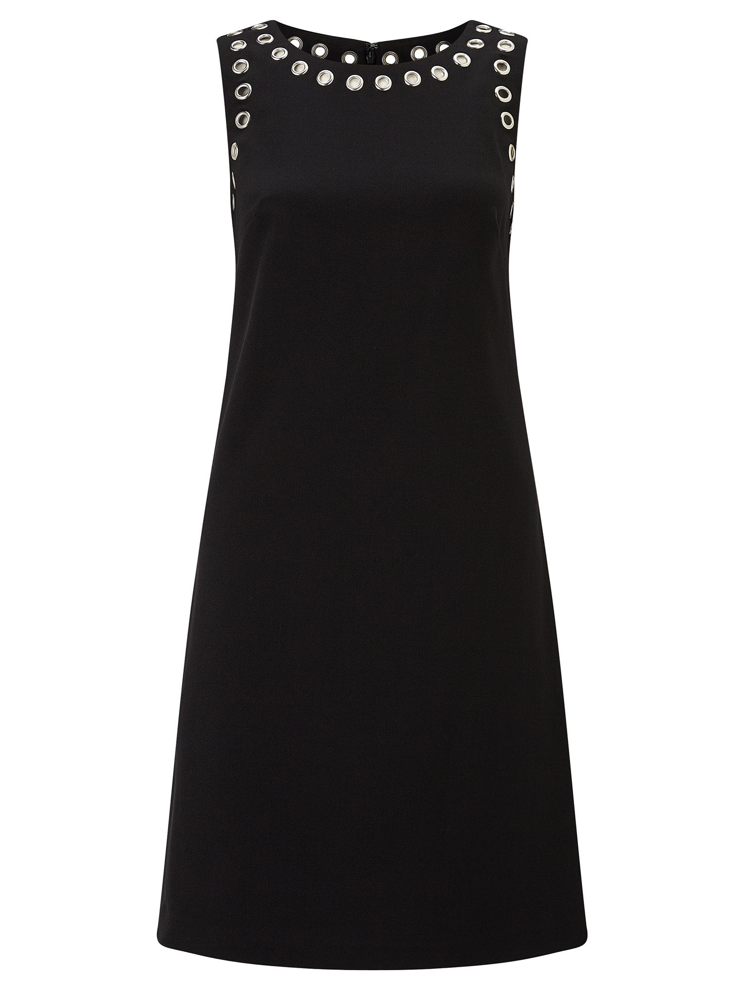 Adrianna Papell Grommet detail shift dress, Black