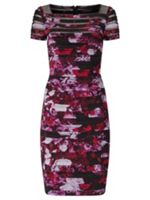 Adrianna Papell Floral bandeau dress