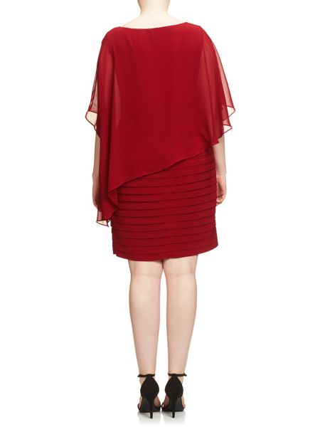 Adrianna Papell Short Sleeve Popover Bandeau Dress