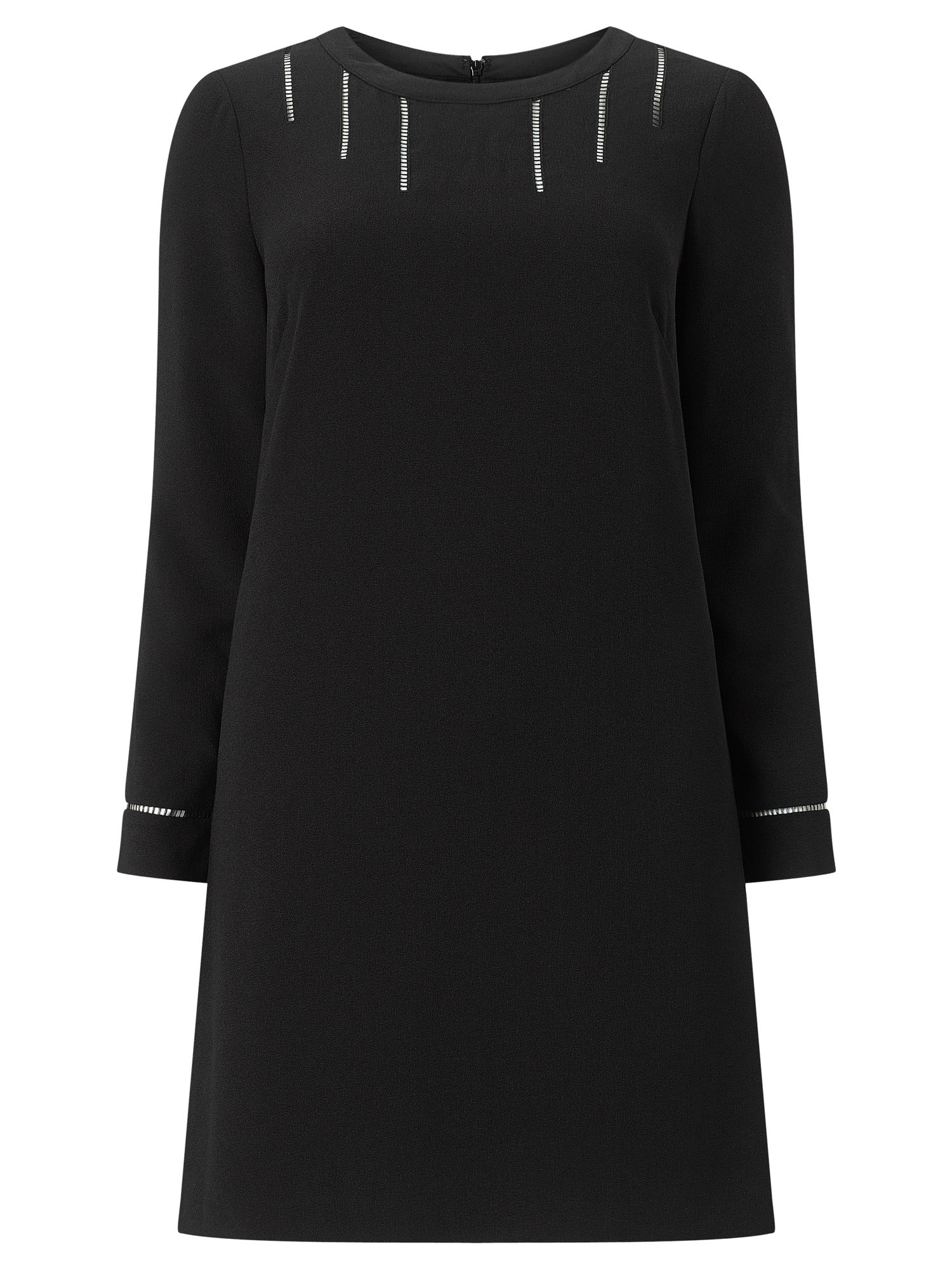 Adrianna Papell Long Sleeve Shift Dress, Black