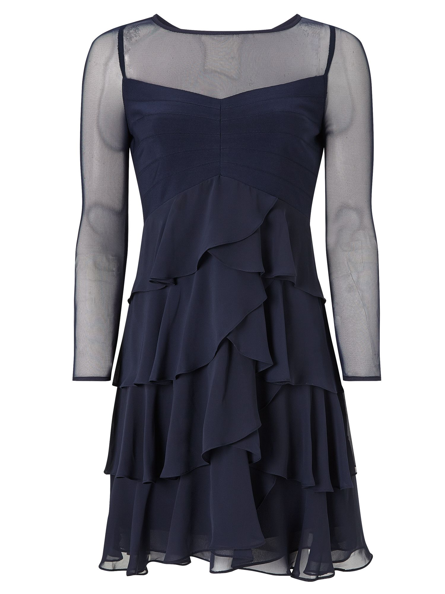 Adrianna Papell Tiered cocktail dress, Blue