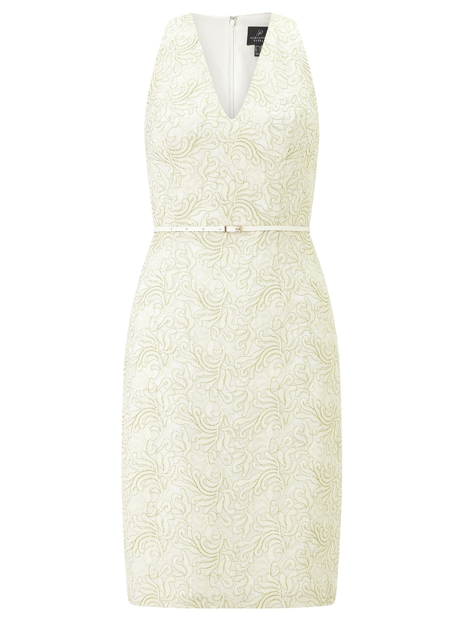 Adrianna Papell Embroidered dress, Cream