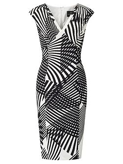 Print sheath dress