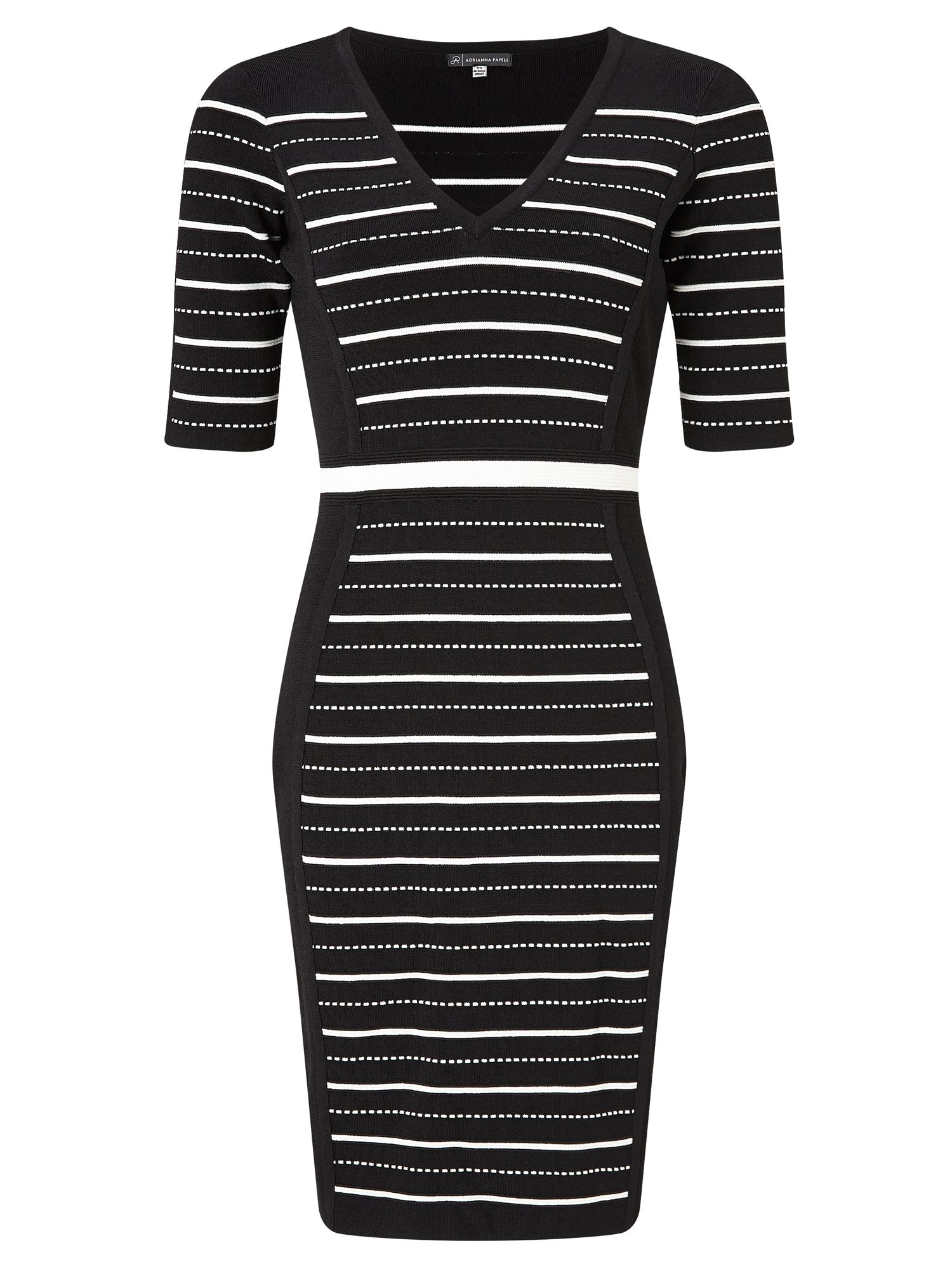 Adrianna Papell Stripe knit dress, Multi-Coloured