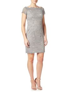 Adrianna Papell Off the shoulder lace dress