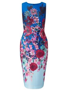Adrianna Papell Floral scuba dress