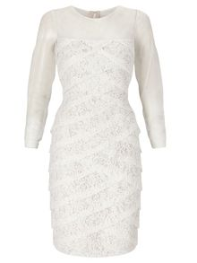 Adrianna Papell Long sleeve lace cocktail dress