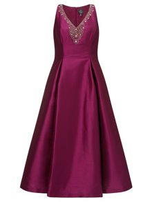 Adrianna Papell Sleeveless embellished prom dress