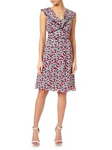 Adrianna Papell Ruffle floral dress