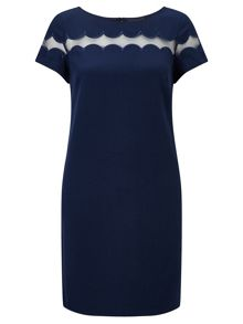 Adrianna Papell Shift dress with sheer detail