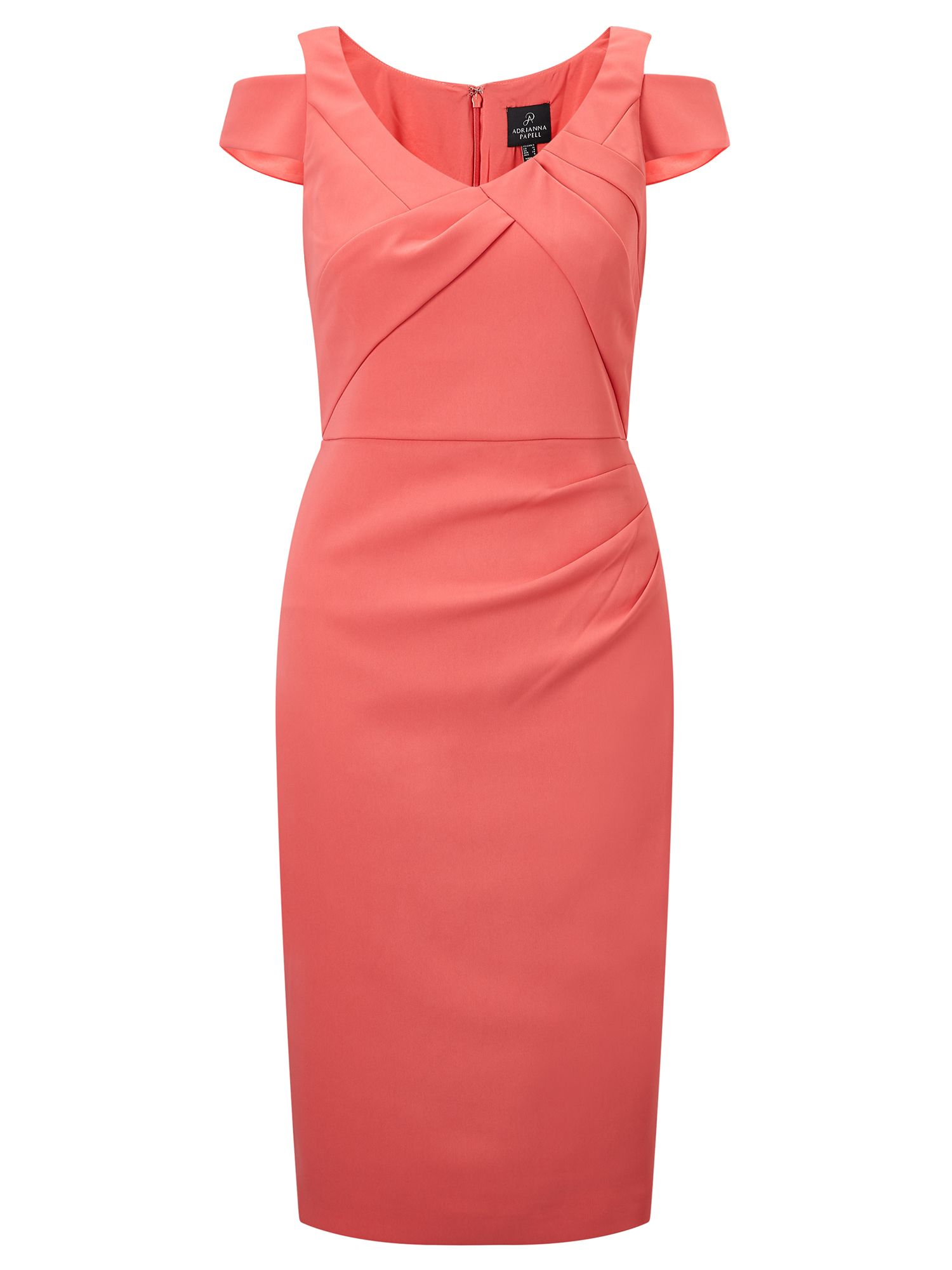 Adrianna Papell Cold shoulder sheath dress, Pink