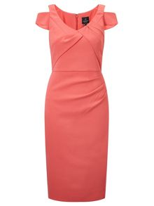 Adrianna Papell Cold shoulder sheath dress