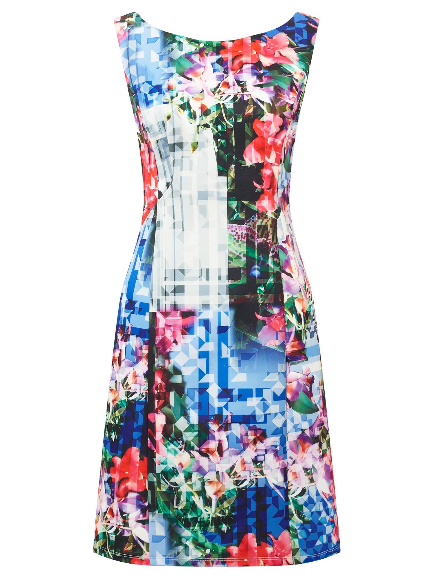 Adrianna Papell Printed scuba dress, Multi-Coloured