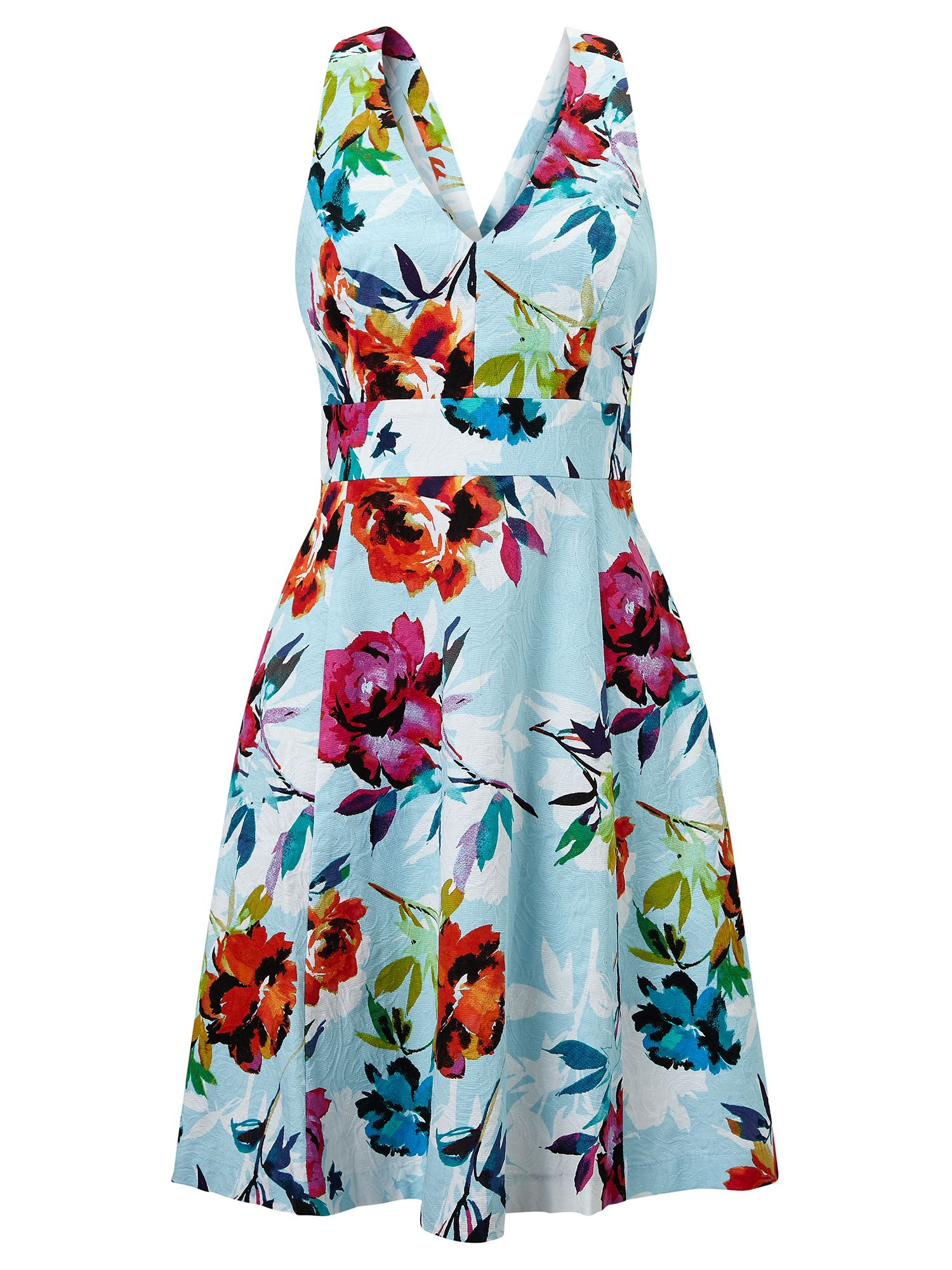 Adrianna Papell Multicolour fit and flare floral dress, Multi-Coloured