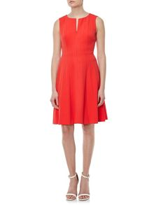 Adrianna Papell Panelled fit and flare dress