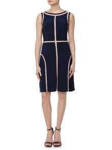 Adrianna Papell Faux sheer panelled dress